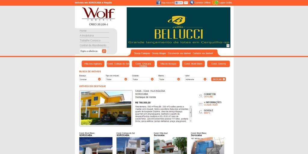 imobiliária wolf imóveis sorocaba e região